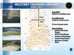 military training ground basic data