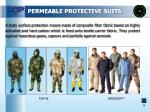 permeable protective suits