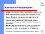 formalit s indispensables