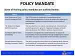 policy mandate