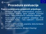 procedura evaluacije1