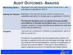 audit outcomes analysis1