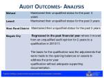 audit outcomes analysis3
