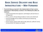 basic service delivery and bulk infrastructure way forward