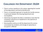 challenges per department dlgh