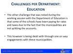 challenges per department education2