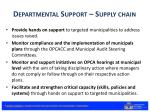departmental support supply chain