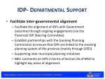 idp departmental support1
