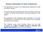overall assessment of audit committees