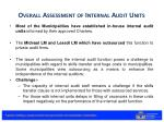 overall assessment of internal audit units