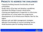 projects to address the challenges