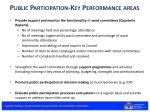 public participation key performance areas