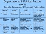 organizational political factors cont