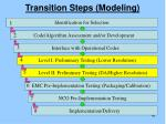 transition steps modeling