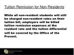tuition remission for non residents