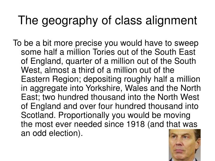 The geography of class alignment
