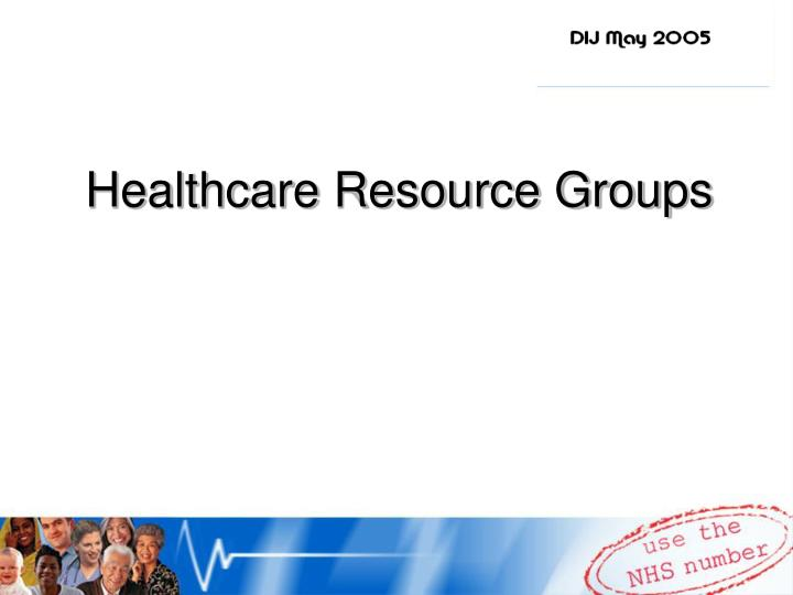 healthcare resource groups n.
