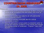 countrecesion measures in 2009