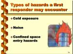 types of hazards a first responder may encounter2