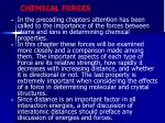 chemical forces