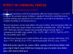 effect of chemical forces