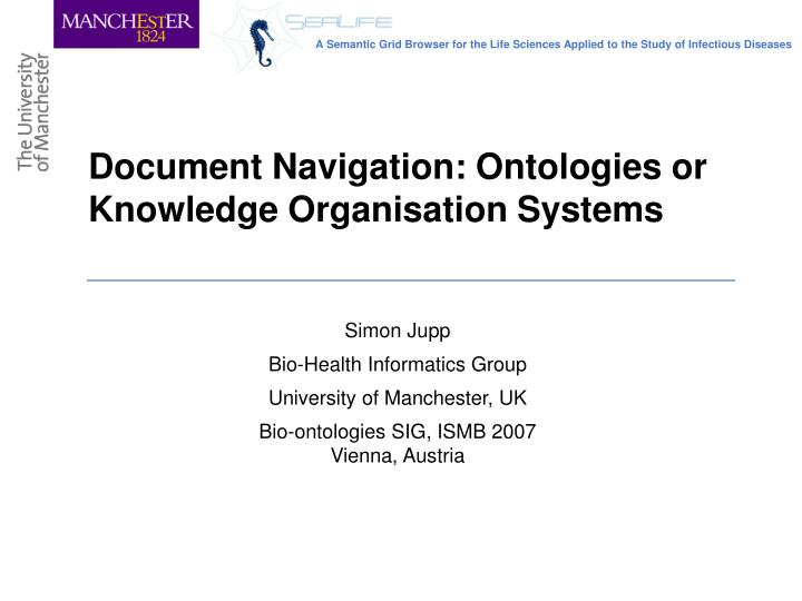 document navigation ontologies or knowledge organisation systems n.
