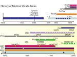 history of medical vocabularies