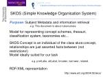 skos simple knowledge organisation system