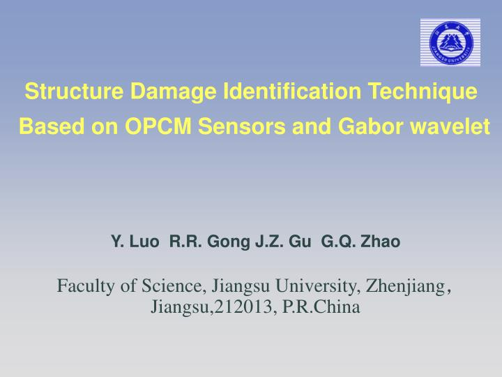 structure damage identification technique based on opcm sensors and gabor wavelet n.