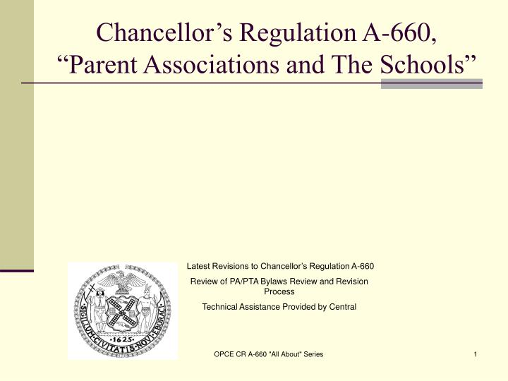 chancellor s regulation a 660 parent associations and the schools n.