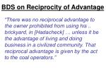 bds on reciprocity of advantage1