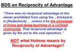 bds on reciprocity of advantage2