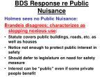 bds response re public nuisance