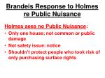 brandeis response to holmes re public nuisance