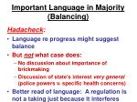 important language in majority balancing1
