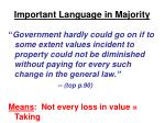 important language in majority