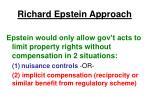 richard epstein approach