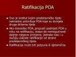 ratifikacija poa