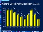 general government expenditure of gdp