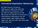 international organization membership