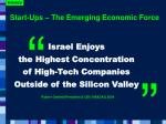 start ups the emerging economic force