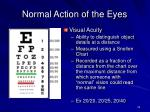 normal action of the eyes1