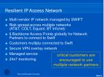 resilient ip access network