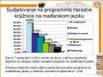 sudjelovanje na programima narodne knji nice na ma arskom jeziku