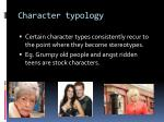 character typology