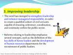3 improving leadership