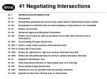 41 negotiating intersections