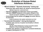 evolution of human robot interfaces achieves