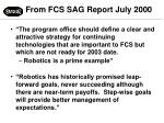 from fcs sag report july 2000