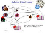 malicious onion bombing